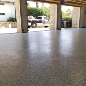 home garage resurfaced epoxy coating
