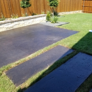 home patio resurfaced concrete stain