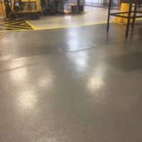 industrial assembly plant with urethane flooring