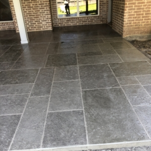 limestone overlay used in residential porch resurfacing