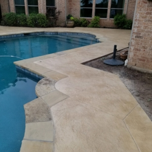 limestone overlay used to resurface pool deck home