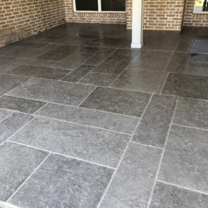 limestone overlays restored residential patio