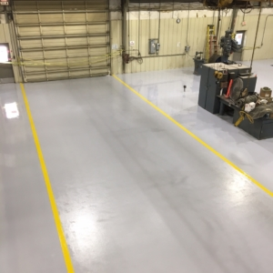 manufacturing facility resurfaced with urethane flooring
