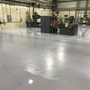 manufacturing facility with urethane coating