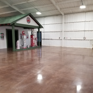polished concrete flooring residential garage