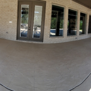 resurfaced backyard patio limestone overlay