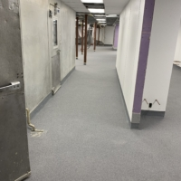 resurfaced food processing floors with urethane coating