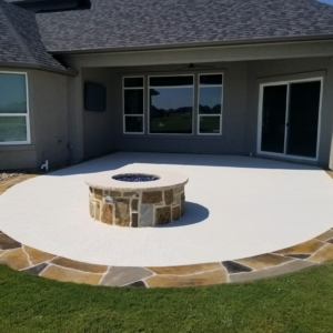resurfaced home patio limestone overlays