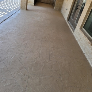 resurfaced residential patio limestone overlay