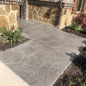 resurfaced residential patio stamped overlay