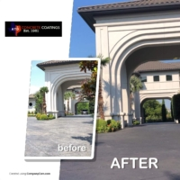 stain rehab for residential drive