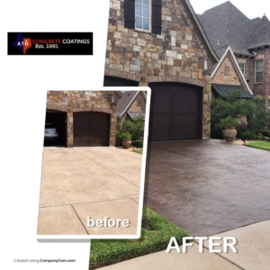 stain rehab residential drivway
