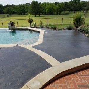 stain rehab restored residential pool deck