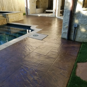 stain rehab results on residential pool deck