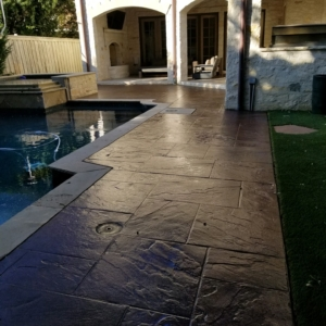 stain rehab results residential pool deck