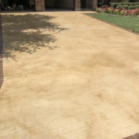 stamped overlay on residential driveway