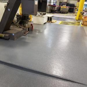urethane coating on industrial assembly plant floors
