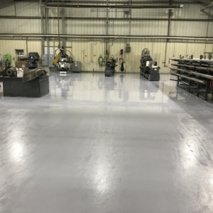 urethane coating over manufacturing facility floors