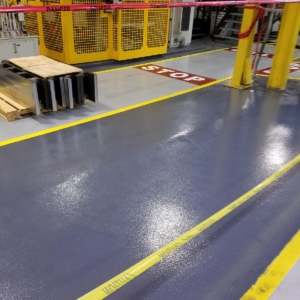 urethane coatings on industrial assembly plant