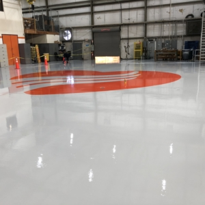 warehouse flooring with urethane coating